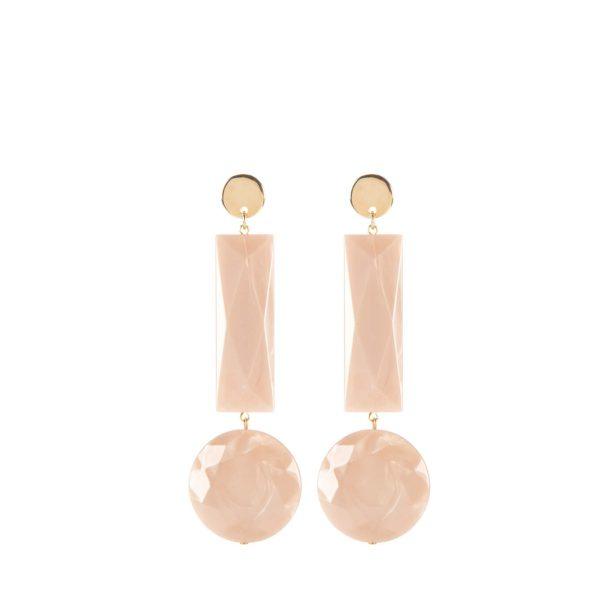 Gioielli in resina | Orecchini 76A beige - Paviè bijoux artigianali
