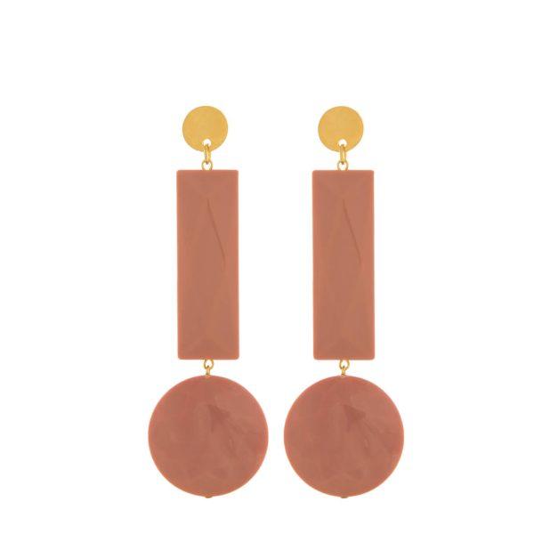 Gioielli in resina | Orecchini 76A cipolla - Paviè bijoux artigianali (rosa)