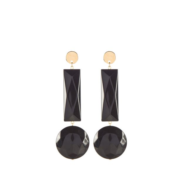 Gioielli in resina | Orecchini 76A nero - Paviè bijoux artigianali