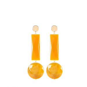 Gioielli in resina | Orecchini 76A senape (giallo) - Paviè bijoux artigianali