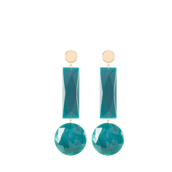 Gioielli in resina | Orecchini 76A verdi - Paviè bijoux artigianali