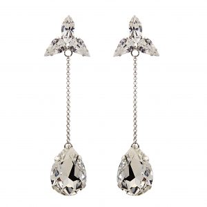 Orecchini a goccia cristalli pendenti - Paviè bijoux artigianali