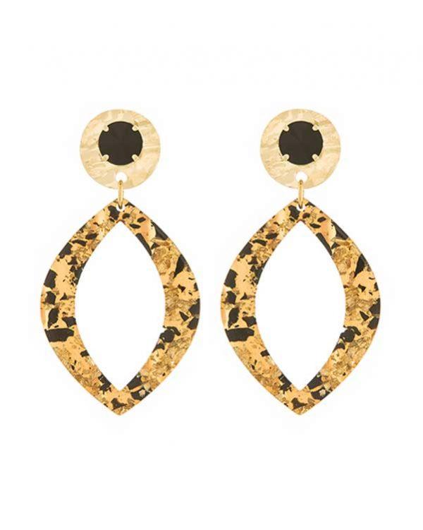 Good Online Shopping | Swarovski Resin Oval Earrings - Paviè Bijoux