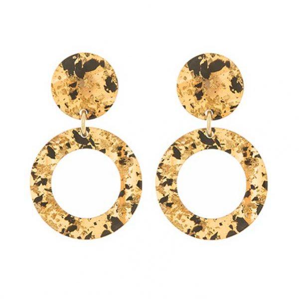 Bijoux vendita online | Paviè | Orecchino cerchio in resina marmorizzata